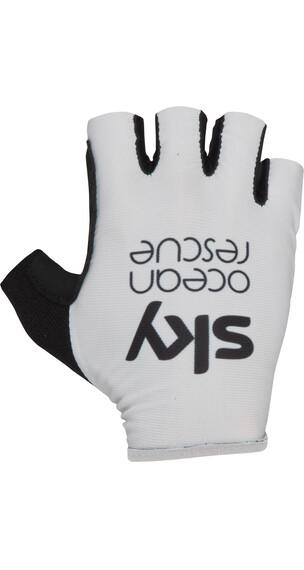 Castelli Tour Race Miehet Pyöräilyhanskat Team Sky TdF-Edition , valkoinen/musta